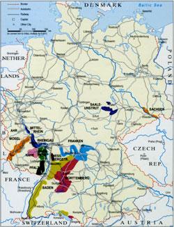 vingårdar tyskland karta Vin och turism i Tyskland vingårdar tyskland karta
